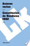 libro Constitución De Honduras 1982