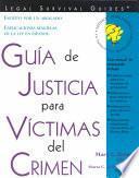 libro Guía De Justicia Para Víctimas Del Crimen