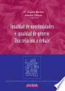 libro Igualdad De Oportunidades E Igualdad De Género