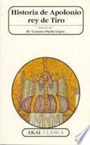 libro Historia De Apolonio Rey De Tiro