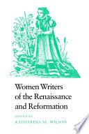 libro Women Writers Of The Renaissance And Reformation