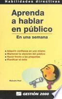 Aprenda A Hablar En Público