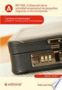 Dirección De La Actividad Empresarial De Pequeños Negocios O Microempresas. Adgd0210