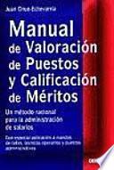 Manual De Valoración De Puestos Y Calificación De Méritos