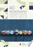 libro 40 Aniversario De La Universidad De Cantabria