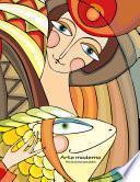 Arte Moderno Libro De Colorear Para Adultos 1