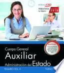 libro Cuerpo General Auxiliar De La Administración Del Estado (turno Libre). Temario Vol. I.