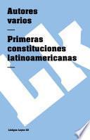 libro Primeras Constituciones Latinoamericanas