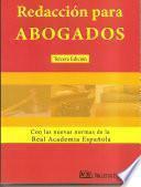 libro Redaccion Para Abogados