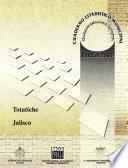 libro Totatiche Estado De Jalisco. Cuaderno Estadístico Municipal 2000