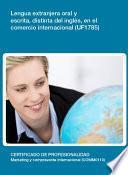 Uf1785   Lengua Extranjera Oral Y Escrita, Distinta Del Inglés, En El Comercio Internacional