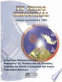 Xv Censo Industrial. Censos Económicos 1999. Industrias Manufactureras Subsector 32. Producción De Textiles, Prendas De Vestir E Industrias Del Cuero. Tabulados Básicos