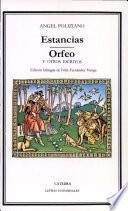 libro Estancias ; Orfeo Y Otros Escritos