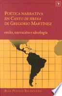 libro Poética Narrativa En Canto De Sirena De Gregorio Martínez