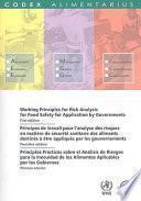 libro Principes De Travail Pour L Analyse Des Risques En Matière De Sécurité Sanitaire Des Aliments Destinés Á Être Appliqués Par Les Gouvernements