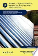 Puesta En Servicio Y Operación De Instalaciones Solares Térmicas. Enae0208